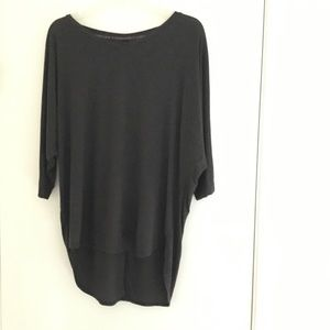 Victoria's Secret charcoal high/low oversized tee